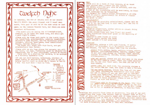 Rowany Twelfth Night 1983 Advertisement, as published in Runes 9, December 1982.