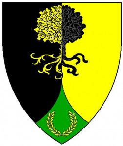 The device of the Canton of Cairn Fell - residing in the Barony of Stormhold, from the Lochac Roll of Arms.