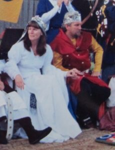 Kane and Rhianwen, 10th Prince and Princess of Lochac. Photo courtesy of Elayne Montjoy.