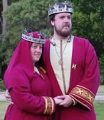 King Theuderic and Queen Engelin. Photo from the Lochac Kingdom website