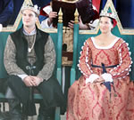 King Edmund and Queen Leonore. Photo from the Lochac Kingdom website