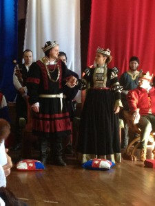 King Felix and Queen Eva at Their step down in Mordenvale, Midwinter AS48. Photo by Lady Ceara Shionnach, July 2013
