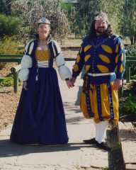Peter and Muirghein, 21st Prince and Princess of Lochac. Photo from archived Lochac websites.