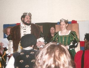 Alaric and Nerissa, 25th Prince and Princess of Lochac. Photo courtesy of Nerissa de Saye.