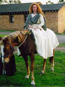 Elspeth (aka Gudrun), 29th Princess of Lochac. Photo from archived Lochac websites.