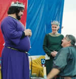 King Alaric I and Queen Nerissa I. Photo from the Lochac Kingdom website