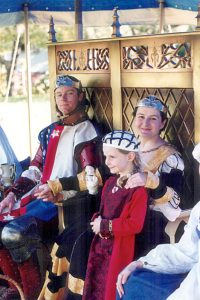 Aedward and Yolande, 31st Prince and Princess of Lochac. Photo courtesy of Nerissa de Saye.