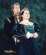 King Aedward and Queen Yolande. Photo from the Lochac Kingdom website