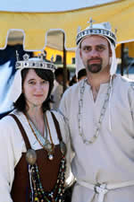 King Draco I and Queen Asa I. Photo from the Lochac Kingdom website