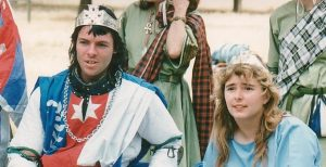 Elffin and Keridwen, 8th Prince and Princess of Lochac. Photo by John of the Hills, Twelfth Night, 1991.