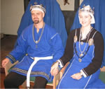 King Draco II and Queen Asa II. Photo from the Lochac Kingdom website