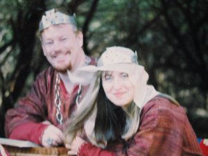 Reynardine and Elayne, 9th Prince and Princess of Lochac. Photo courtesy of Elayne Montjoy.