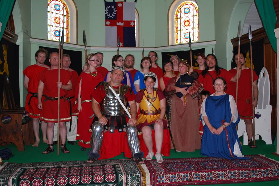 Alfar III and Angharat I with Their Royal Household at Twelfth Night in Okewaite Source: photo by Holmkel of Attica January 2014