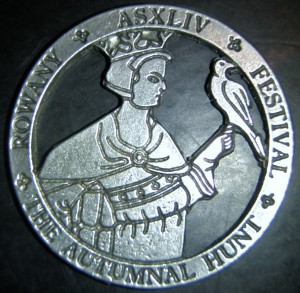 Rowany Festival event token from AS44 (2010). Photo by Baroness Medb ingen Iasachta April 2014