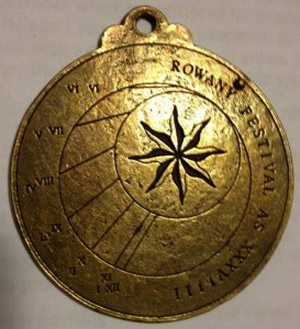 Rowany Festival event token from AS39 (2004). Photo by Mistress Rowan Perigrynne April 2014