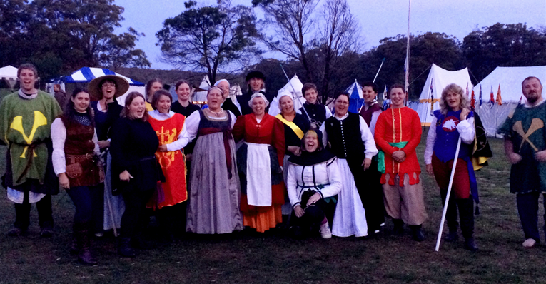 Entrants, sponsors, heralds, marshals and lists of Lochac's first Ladies Rapier Tournament. Photo sources from THL Ceara Shionnach April 2014