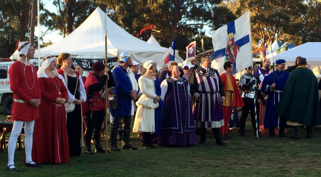 The Barony of Politarchopolis and her allies. Photo by THL Ceara Shionnach April 2014