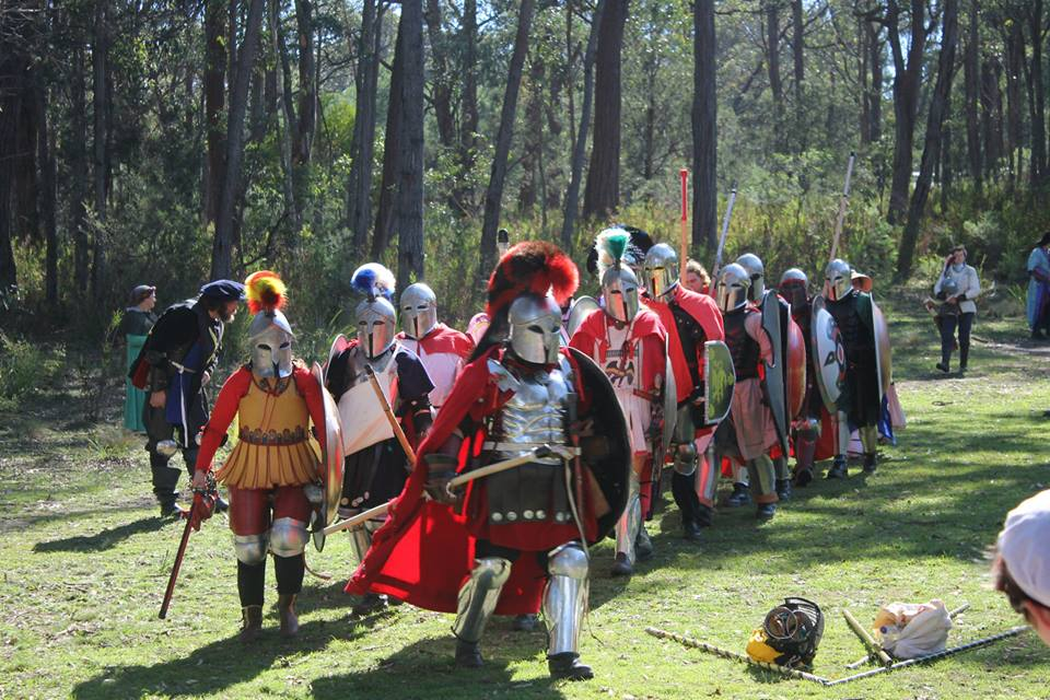 The Royal Household led by King Alfar III and Queen Angharat I on the march to war. Photo by Wilhelm Castleford from Oxington Chase April 2014