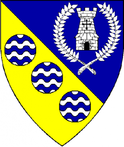 Arms of St Aldhelm, as rendered by Baron Master William Castille.