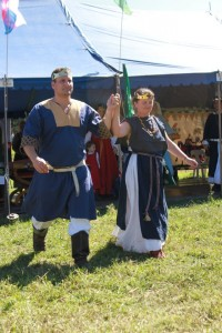 King Siridean and Queen Margi at Rowany Festival. Photo provided by Mistress Margi of Glen More.