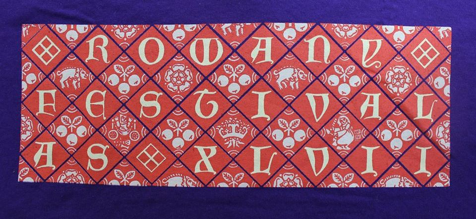 The Rowany Festival t-shirt design for AS47 depicted the tiled floor of Richard III. Photo and design by Lady Eloise Darnell