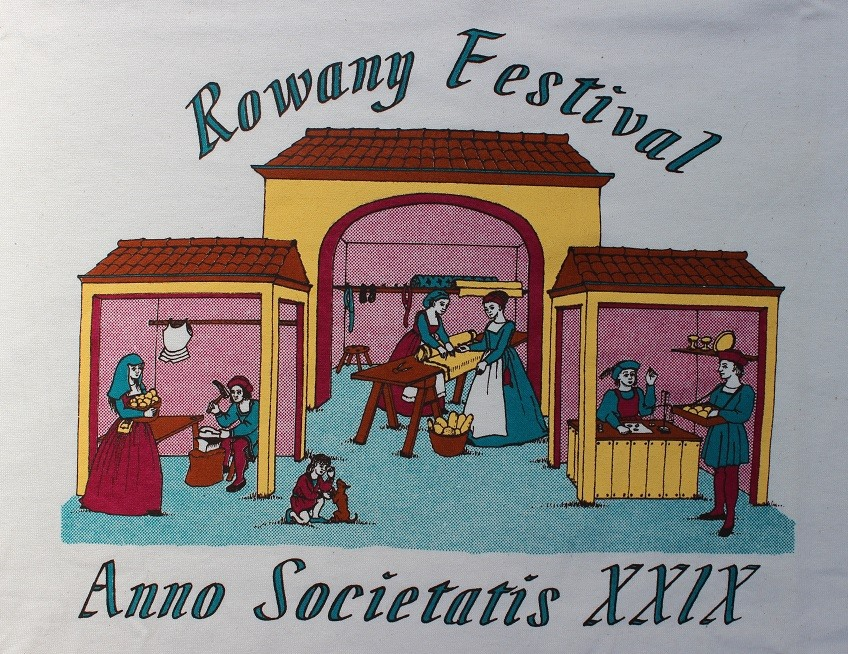 The Rowany Festival t-shirt design for AS29 was of an Italian market. Photo and design by Lady Eloise Darnell
