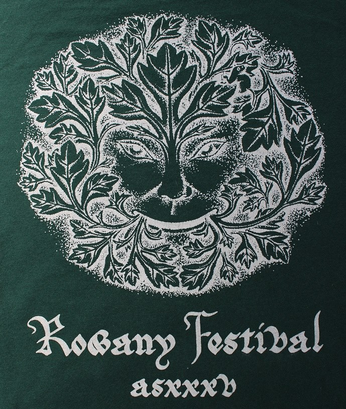 The Rowany Festival t-shirt design for AS35 of the Greenman. Photo and design by Lady Eloise Darnell