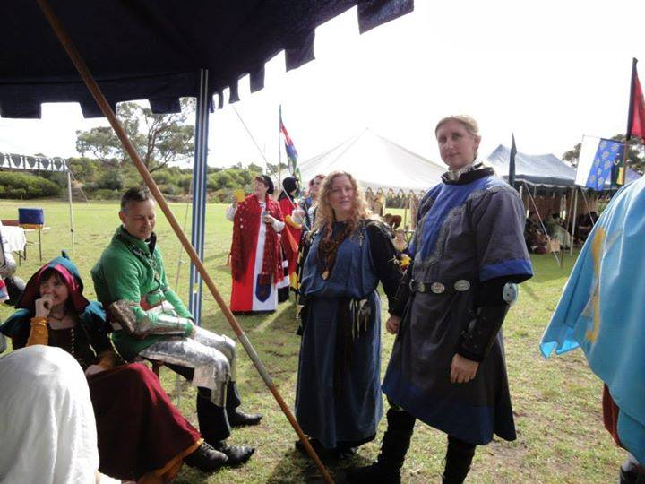 Lady Elysia fought May Crown AS49 in Lochac on behalf of her wife Lady Erin the Red. Photo by Lady Elizabeth Rowe May 2014