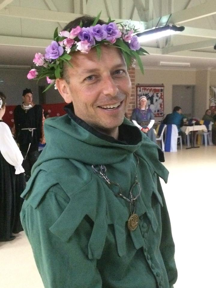 Sir Nathan Blacktower was awarded the wreath of chivalry. Photo by THL Ceara Shionnach May 2014