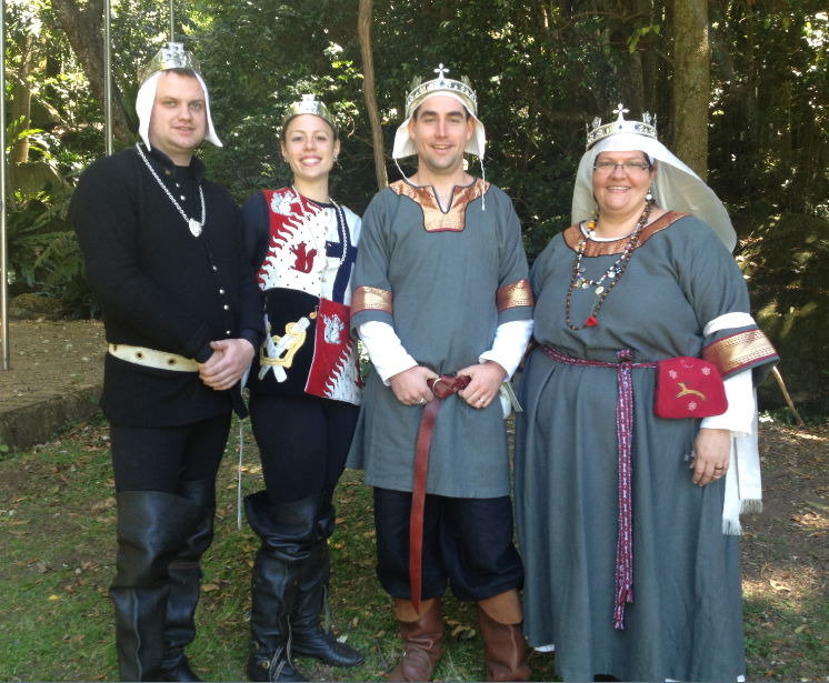 The Crown and Their Heirs at November Crown AS47. Photo by Lady Ceara Shionnach November 2012