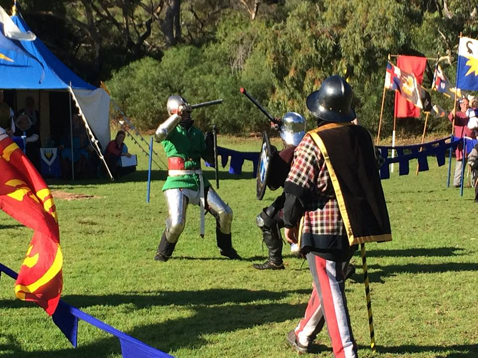 Sir Nathan vs Duke Sir Cornelius in the semi finals of May Crown AS49. Photo by THL Ceara Shionnach May 2014