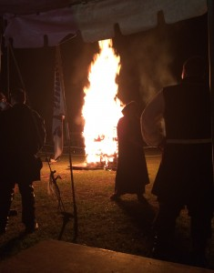 Bonfires are held each night. Photo by TH Lady Ceara Shionnach, June 2014