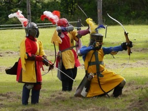 Combat archers at Great Northern War 2014. Photo by Count Sir Edmund of Shotley, June 2014