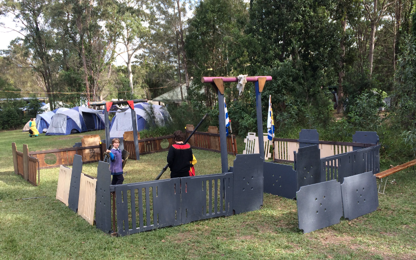 Kids fort for boffer fighting and playing. Photo by TH Lady Ceara Shionnach, June 2014