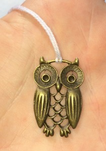 Owl event token for Great Northern War XVI. Photo by TH Lady Ceara Shionnach, June 2014