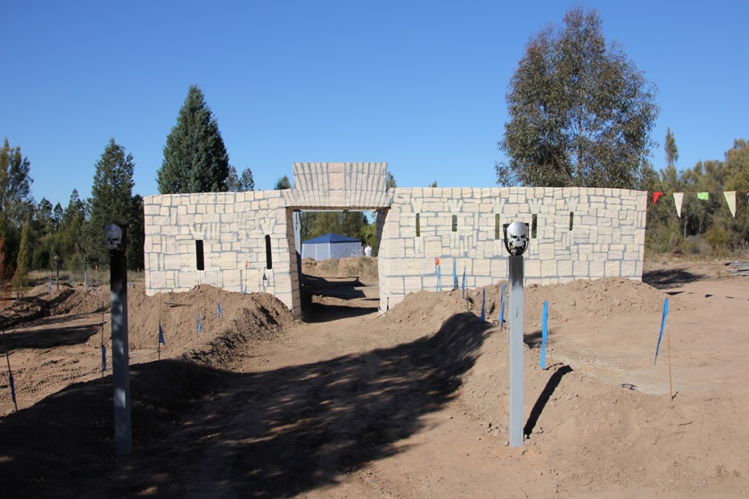 The fort at 'Dragon Hill' in Dubbo NSW used for Radburne War. Photo courtesy of Helen