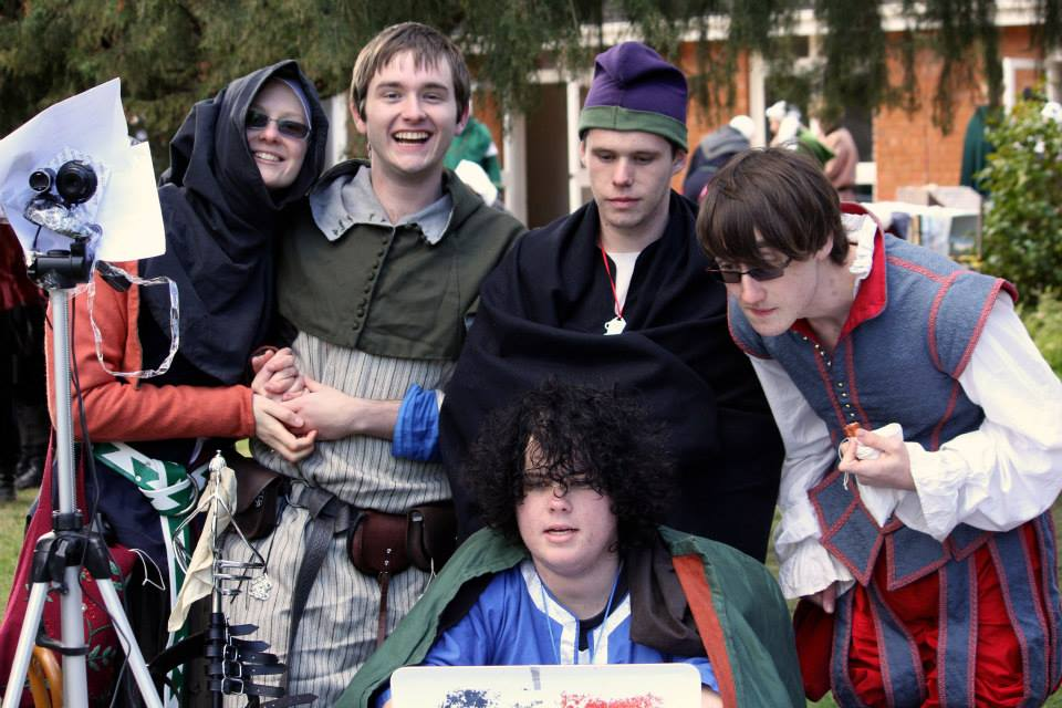 Members of the College of St Andronicus live-streamed the Crown Tournament - a first for Lochac. Photo by Bastian, July 2014
