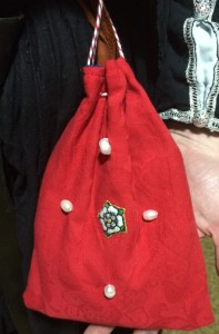 One of the bags made by Baroness Eva von Danzig as a gift for Her Majesty to adorn her household with. Photo by TH Lady Ceara Shionnach, July 2014