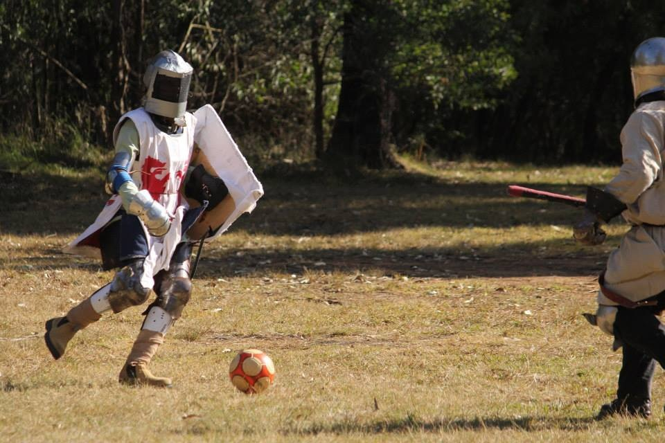 Armoured soccer match. Photo by Bastian, July 2014