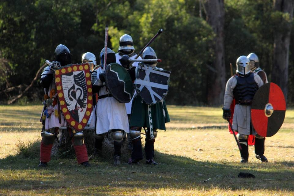 St Ursula and allies holding the stump in war. Photo by Bastian, July 2014