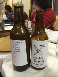 Ursula's demise; a carroty brew made and brought by Innilgardians/Hermanites. Photo by TH Lady Ceara Shionnach, July 2014