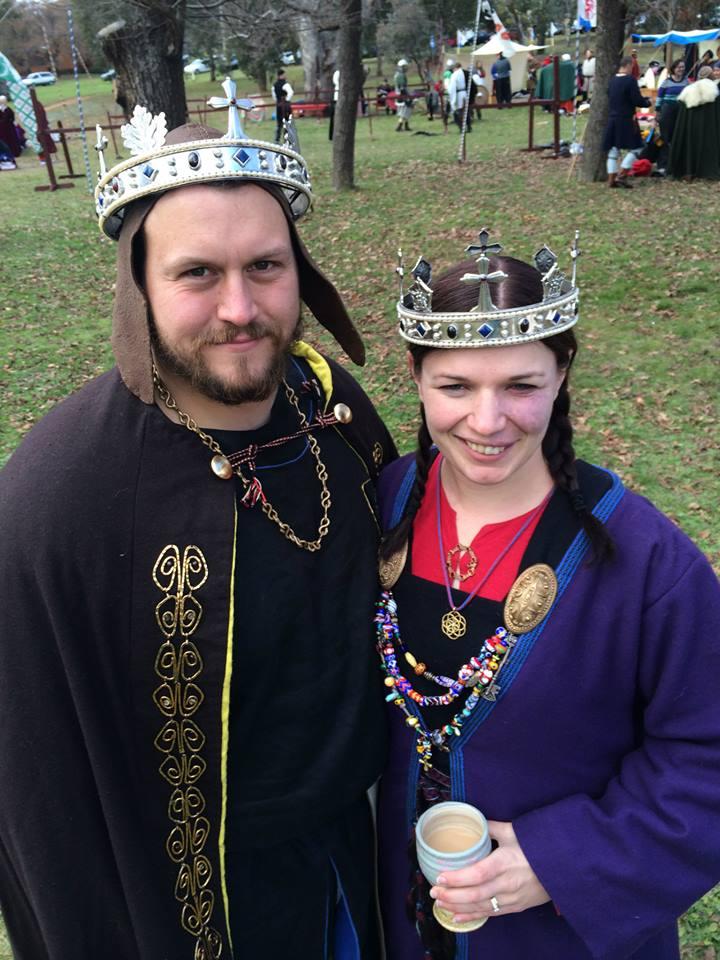 Their Majesties Niall II and Liadan II. Photo by TH Lady Ceara Shionnach, July 2014