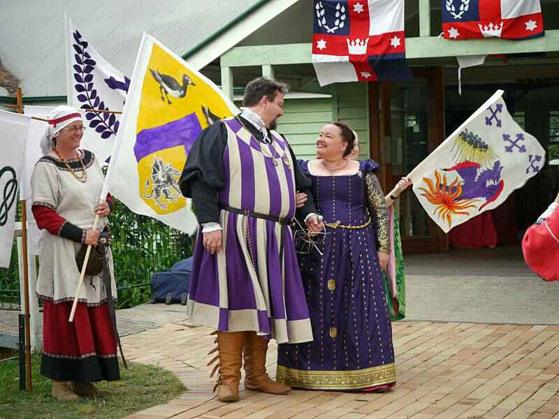 Baron Drake and Baroness Acacia, fourth Baron and Baroness of Saint Florian. Photo from the baronial website.