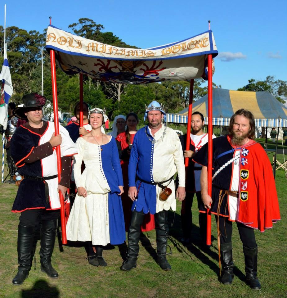 Baron Yevan and Baroness Eva, sixth baron and baroness of Innilgard, at Rowany Festival AS48. Photo by Lord Hugh de Beaufort