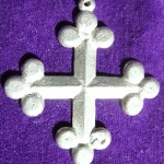 The Order of Saint Florian award token is a silver pendant in the shape of a bottony cross. Photo provided by Duchess Constanzia Moralez y de Zamora.