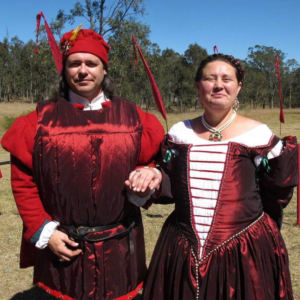 Ludwig von Lichtenstein and Anastasia del Valente, third Baron and Baroness of Mordenvale. Photo provided by Baron Ludwig von Lichtenstein.