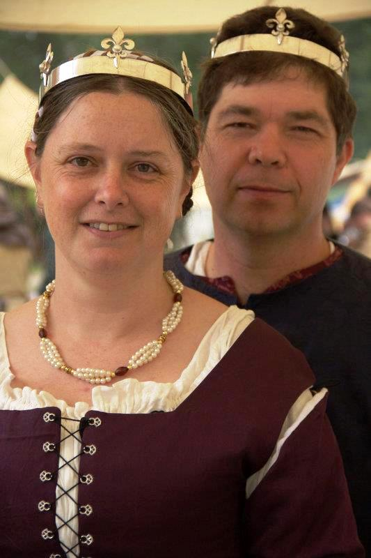 Rudiger Adler and Alyenora Brodier, 4th Baron and Baroness of Ildhafn. Photo provided by Lady Anna de Wilde.