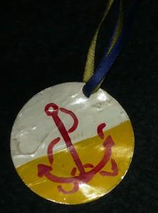 The award token for the Garnet Anchor. Photo by Hrölf Herjölfssen, 2014.