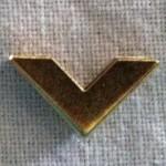 The token for the Golden Chevron. Photo by Baroness Anastasia del Valente.