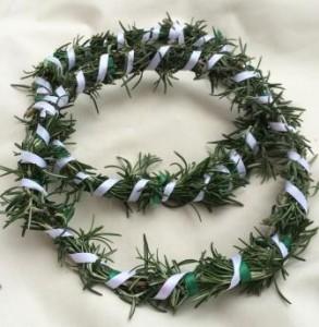 The Wreaths of Chivalry from November Crown 2014, made by Countess Liadan ingen Fheradaig. Photo by TH Lady Ceara Shionnach.